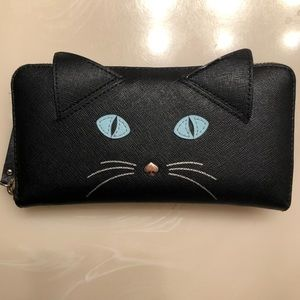Kate Spade Lacey Cat Leather Wallet